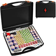 Battery Organizer Storage Case with Battery Tester, 166 Batteries Holder Container Box for AA AAA AAAA 9V C D Lithium 3V LR4