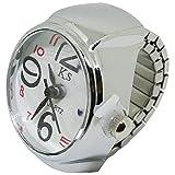 1stモール ステンレス サイズフリー 指輪時計 クロックリング リングウォッチ [ ホワイト ] ST-NBW0RI6873-WH