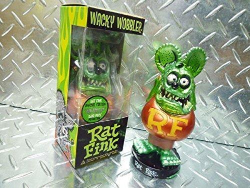 RAT FINK メタリックラットフィンク 世界限定1500体(メタリックグリーン) FUNKO WACKY WOBBLER ボビングヘッド フィギュア 人形  アメリカン雑貨 アメリカ 雑貨