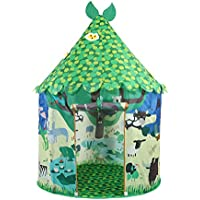 Springbuds 子供用テント キッズテント ボールハウス リーフ柄 室内室外テント 子供部屋 プレゼント お誕生日 出産祝い