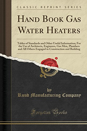 Hand Book Gas Water Heaters: T...