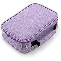 PAMASE ペンシルバッグ 大容量 色鉛筆ケース 折り畳み 鉛筆収納ケース 防水 筆箱 ペンケース 持ち運び ハンドル付き 72本 (色鉛筆なし)