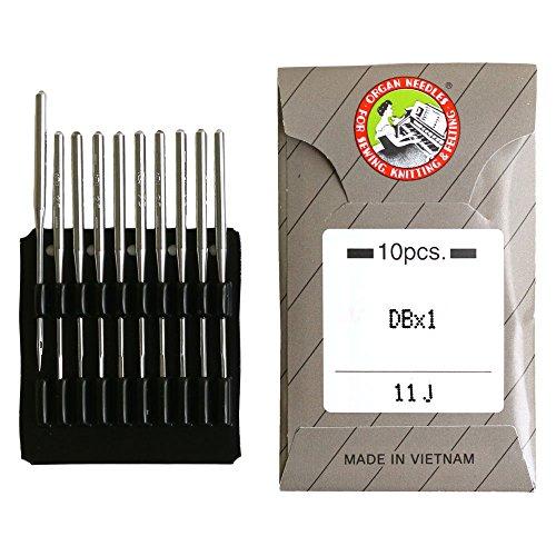 工業用特殊ミシン針 ニット用 10本入 11番手 DB-1J-11