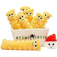 "Crinkle Fries [ Shake Shack Exclusive ] : ~ 8"" Kidrobot Yummy World Plush + 1公式Yummy mini-item Goodieバンドル"