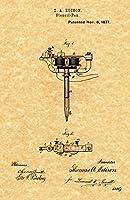 """アンティークTattoo Gun by Thomas Edison特許印刷1877–( 8.5"""" X 11"""" )"""