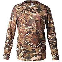 New Camouflage T Shirt Men Breathable Quick Dry Combat Full Sleeve Outwear T-Shirt for Men