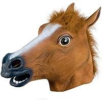 QUEENSHINY 馬のマスク 江南スタイル コスチューム用小物 大人用サイズ