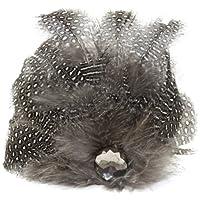 Laliberi クイック クリップ 1/Pkg-羽の花ドロップ グレー