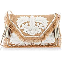 zoda Women's Leha Clutch, Beige, One Size