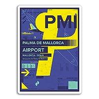 2×10センチメートルパルマデマヨルカ空港ビニールステッカー - スペイン旅行ステッカー#17451(10センチメートルトール)
