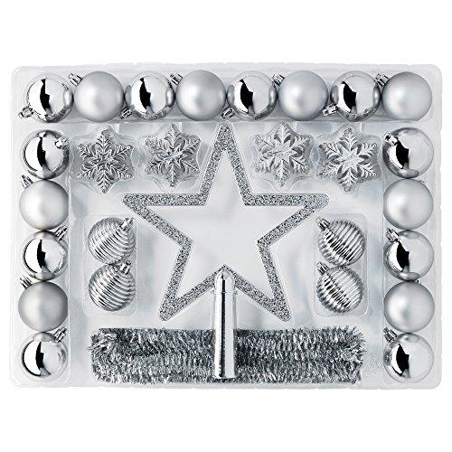 RoomClip商品情報 - IKEA VINTER 2015 90305841 クリスマス デコレーション 56点 セット シルバー カラー