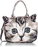 [エイディア] adia アニマルフォトプリントバッグ Lサイズ ショルダーバッグ 斜め掛け 猫 ネコ ねこ 2WAY