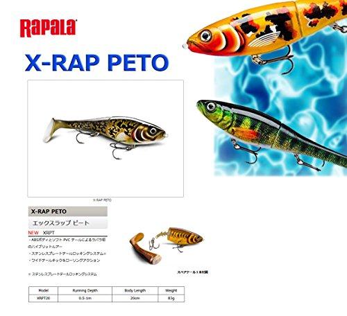 ラパラ(Rapala) エックスラップ ピート 20cm 83g アーティスティックバーボート X-RAP PETO XRPT20-ARB