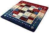 イケヒコ ラグ カーペット 3畳 洗える 北欧 なめらかタッチ フランネル 『ラスコー』 レッド 約200×250cm ホットカーペット対応 ♯5634069