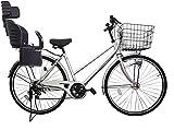 Lupinusルピナス 自転車 26インチ LP-266TA-knrj-bk シティサイクル シマノ製外装6段ギア オートライト 樹脂製後子乗せブラック (シルバー)