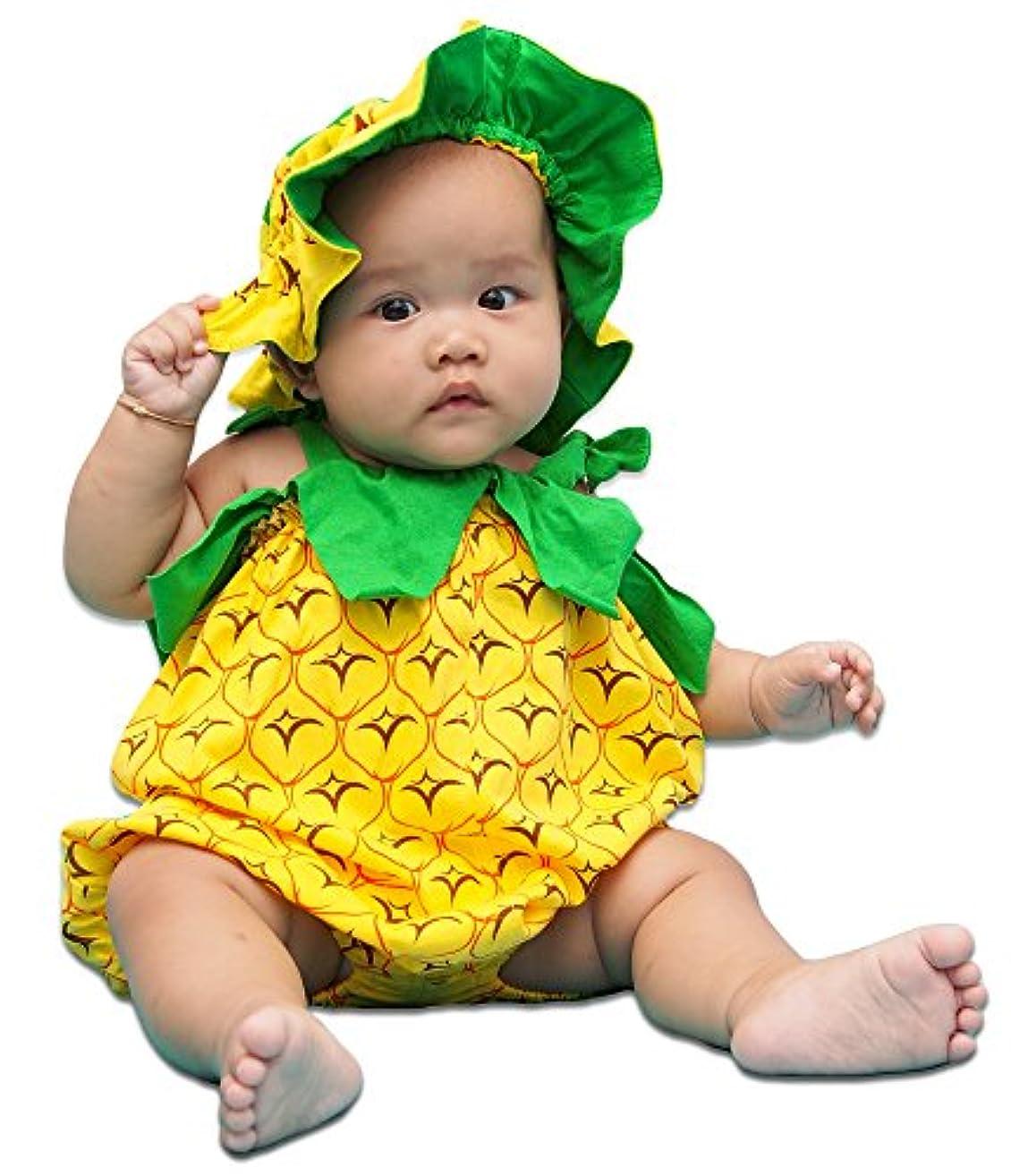 酸っぱい売り手重くするキッズコスチュームパイナップル(4ヶ月 - 7ヶ月)