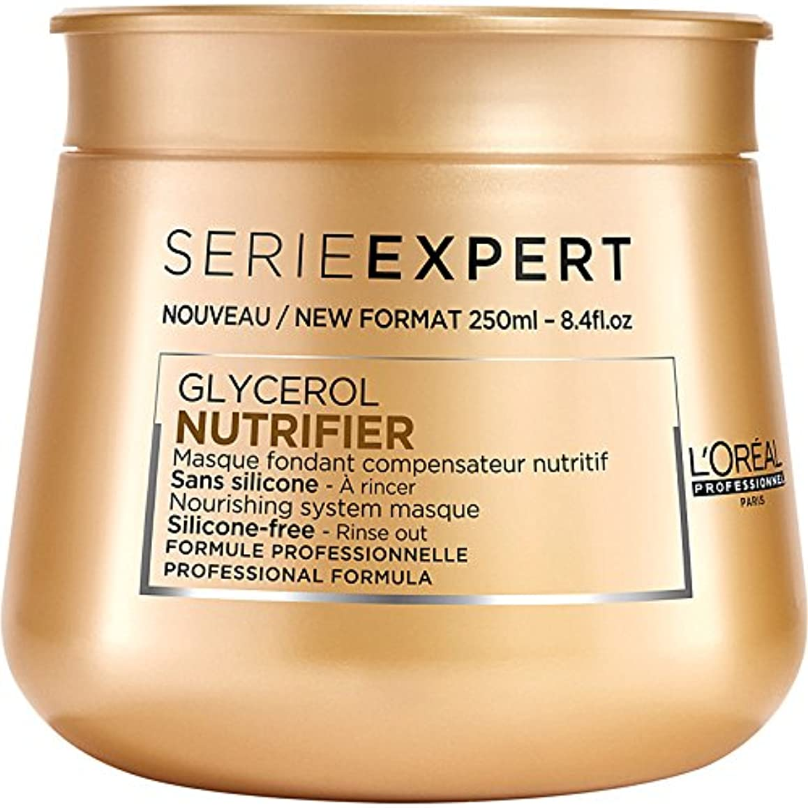 ラベル仲間、同僚生産性L'Oreal Serie Expert Glycerol NUTRIFIER Nourishing System Masque 250 ml [並行輸入品]
