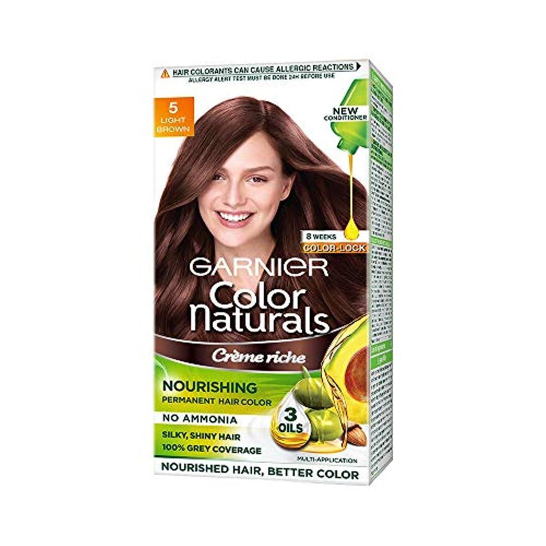 反抗種をまく舌な(Garnier Color Naturals Hair Color, Shade 5, Light Brown)
