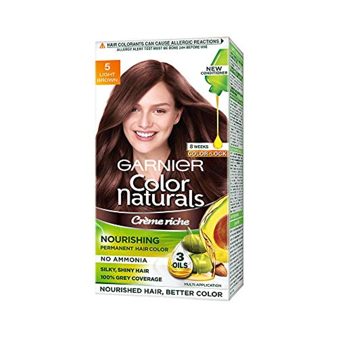(Garnier Color Naturals Hair Color, Shade 5, Light Brown)