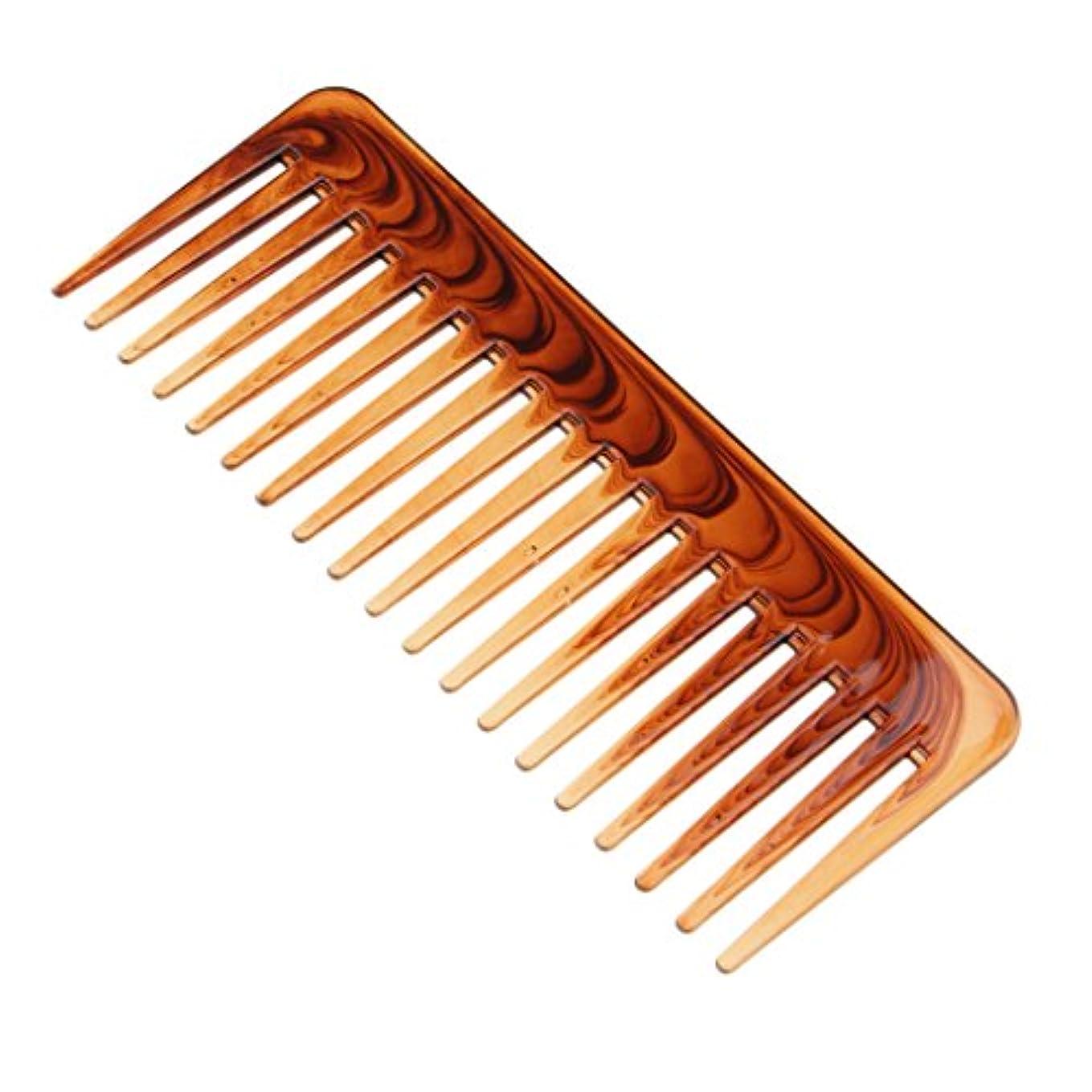 定期的なうまくやる()フェリーデタングルヘアコームヘアコンディショニングレーキコームワイドトゥースヘアブラシツール
