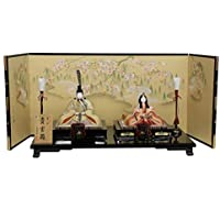 雛人形 平飾り木目込み親王 帯地貴宝雛1207 幅101cm 3mk10 真多呂 伝統的工芸品