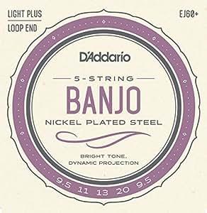 D'Addario ダダリオ バンジョー弦 ニッケル Light Plus 5弦 .0095-.020 EJ60+ 【国内正規品】