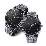 Menton Ezil カップル腕時計 人気ペアウォッチ クラシック シンプル ファッションレザーバンド クォーツ 女性 男性 カップルウォッチ ペア腕時計 2ペアのセット
