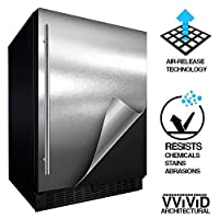 (Satin Chrome Stainless Steel) - VViViD Architectural Adhesive Metallic Satin Finish Vinyl 60cm x 150cm Roll (Satin Chrome Stainless Steel)