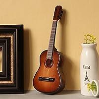 ギターモデル、スタンドとケース付きミニチュアギターモデル、ミニ楽器、ミニチュアドールハウスモデル、ホームデコレーション、ファッションギフト、音楽ギフト、家具 (10 cm)