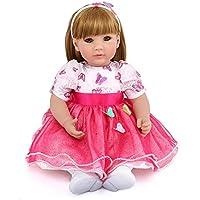 20インチ 欧米大人気 リアル 女の子 人形 着せ替えはできる ドール 安全ビニール製 子ども おもちゃ ぬいぐるみ 西洋風 レトロ調 子供への誕生日プレゼントに最適 (ピンク リボン プリンスドレス)