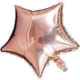 YideaHome ハート型風船 風船 バルーン 気球 アルミ ハートバルーン フォイルバルーン スターバルーン 誕生日パーティー、結婚式、パーティーデコレーション用 18インチ 1個