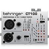 ベリンガー ケーブルテスター XLR/TS,TRSフォン/MIDI/TT/RCAケーブル対応 9V電池動作 テストトーン内蔵 CT100
