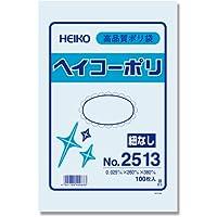 ヘイコー ビニール袋 ヘイコーポリ No.2513 0.025mm厚 100枚 006614713