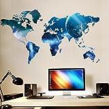 ZooArts ウォールステッカー シール ウォールペーパー 綺麗 青い星 世界地図 オフィス 応接間 子供部屋 環境保護 おしゃれ はがせる インテリア雑貨 賃貸OK