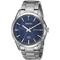 Seiko Men's Silvertone Stainless Steel Solar Watch
