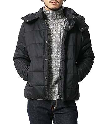 [アールディ.ゴースト] ジャケット 中綿ジャケット フード脱着 撥水 防寒 メンズ ブラック S サイズ