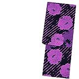 (MERCURYDUO)マーキュリーデュオブランド浴衣【黒×紫ピンクストライプに牡丹13321】お仕立て上がり