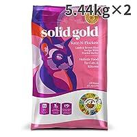 ソリッドゴールド カッツフラッケン ラム&玄米 全年齢猫用 5.44kg×2