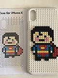 iPhone x カバー レゴ ブロック 風の おもちゃ ケース スーパーマン 保護ケース 10 白 ホワイト