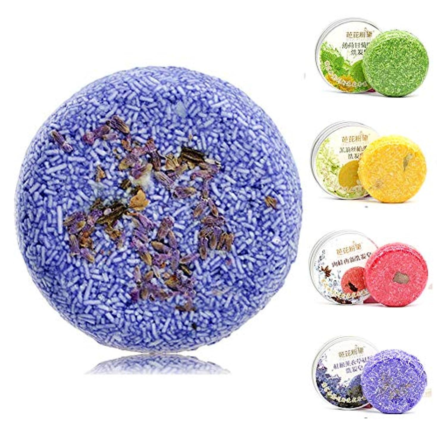 明確な価値タンパク質ヘアソープシャンプーバー、手作りナチュラルエッセンシャルオイルソープコンディショナーバー、ヘアークリーニング、モイスチャライジング(Lavender,ラベンダーソープ55g)