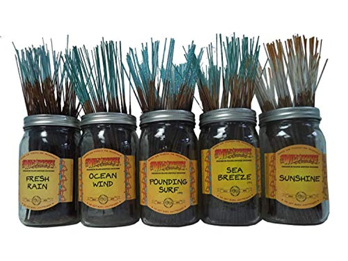 バルコニー満足降ろすWildberry Incense Sticksトロピカルセット# 1 : 20 Sticks各5の香り、合計100 Sticks 。
