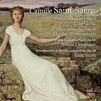 サン=サーンス : 協奏曲作品集 (Camille Saint-Saens : Piano Concerto No.2 / Emil Giles | Cello Concerto No.1 / Mstislav Rostropovichi | Violin Concerto No.3 | Introduction & Rondo capriccioso / Isaac Stern) [SACD Hybrid] [輸入盤]
