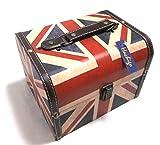 【Hachigo】選べる 国旗 柄 アンティーク ボックス レトロ な 雰囲気 の 箱 が インテリア にも 最適 (イギリス(小))