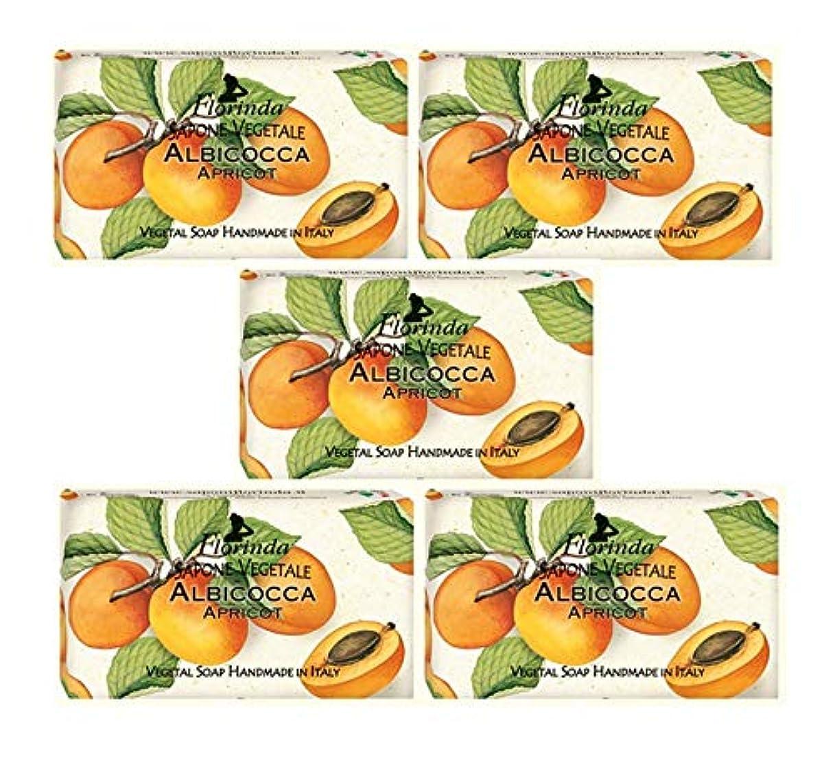 しゃがむ空中出席するフロリンダ フレグランスソープ 固形石けん フルーツの香り アプリコット 95g×5個セット