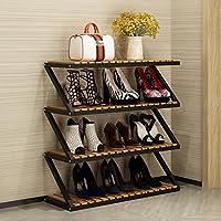 靴ラック多層シンプル家庭用靴キャビネットリビングルームシューズラックストレージラックホールキャビネット (色 : 80 * 26 * 76cm-b)