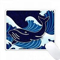 ゴールデンシーライフ、ディープブルーキラキラルックルックスクラップブックスタイルの海 PC Mouse Pad パソコン マウスパッド