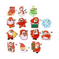 BESTOYARD クリスマス ブローチピン LEDブローチ 子供 光るおもちゃ クリスマス パーティー用品 ライトブローチ 50個セット(混合スタイル)