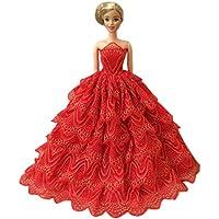 美しいプリンセスウェディングコスチュームパーティーイブニングドレスDolls dress-upコスチュームギフトアイデア、C