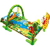 YeahiBaby Kick and Play Piano Gym Newborn Baby Piano Gym Activity Mat with Light Music for Baby (Green)
