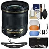 Nikon 24mm f / 1.8g af-s Ed Nikkorレンズwith 3フィルタ+ストラップ+フラッシュDiffusers +キットfor d3200、d3300、d5300, d5500..